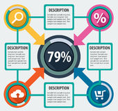Modern infographics options Royalty Free Stock Image