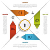 Modern infographics origami elements. Vector Stock Image
