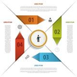 Modern infographics origami elements. Vector. Illustration Stock Image