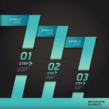 Modern infographics origami style step banner. Modern infographics origami style step up options banner. Vector illustration. can be used for workflow layout royalty free illustration