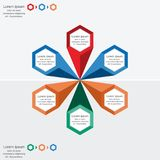 Modern infographics process template, business concept infographic  Royalty Free Stock Photos