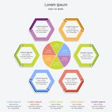 Modern infographics process template,business concept infographic,vector illustration Royalty Free Stock Images