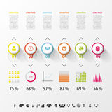 Modern infographics set. Diagram and Timeline design. Royalty Free Stock Photo
