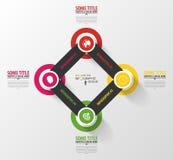 Modern infographics template with 4 circles. Stock Photos