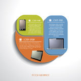 Modern Infographics template with computer devices. Vector illus Stock Photos