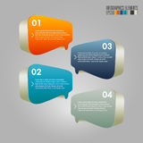 Modern infographics template. 3d geometry infographics template, vector eps10 Royalty Free Stock Photos