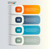 Modern infographics template. 3d geometry infographics template, vector eps10 Royalty Free Stock Image