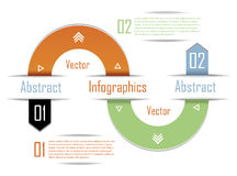 Modern Infographics template. Design for  business. Stock Photography