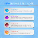 Modern infographics template with frames and sample text. Modern infographics template with paper frames and sample text - vector illustration vector illustration