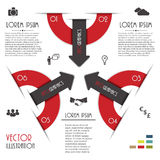 Modern Infographics template with numbers. Royalty Free Stock Photography