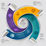 Modern infographics template torn paper style. Stock Photography