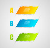 Modern infographics template torn paper style Stock Images