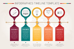Modern infographics timeline template Stock Photography