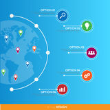 Modern infographics. Vector. Can be used for workflow layout, ba Stock Photography