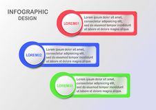 Modern infographics for web banner presentation with text space. Stock Photos