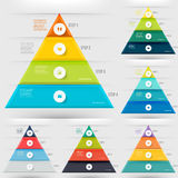 Modern infographicsbeståndsdel Arkivbild