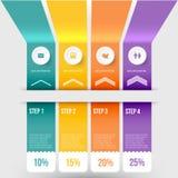 Modern infographicselement Royalty-vrije Stock Afbeeldingen