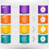 Modern infographicselement Royalty-vrije Stock Foto