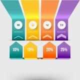 Modern infographicselement Royalty-vrije Stock Fotografie