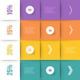 Modern infographicselement Royalty-vrije Stock Afbeelding
