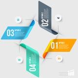 Modern infographicselement Stock Foto