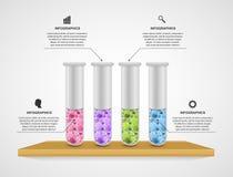 Modern infographicsmall Vetenskap och medicin stock illustrationer