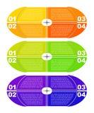 Modern infographicsmalplaatje Royalty-vrije Stock Afbeeldingen