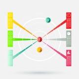 Modern infographicsmalplaatje vector illustratie