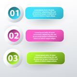 Modern inforgraphic template. Can be used for banners, website templates and designs stock illustration