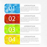 Modern inforgraphic template. Can be used for banners, website templates and designs Stock Photos