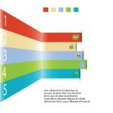 Modern informatie grafisch element voor bedrijfsmalplaatje Stock Fotografie