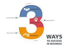 Modern information-diagram för mall design, mall, nummer, väg till framgång Royaltyfria Foton