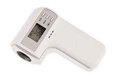 Modern infra-red digital thermometer. With display isolated on white Stock Image