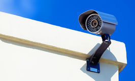 Modern Infrarred Day-Night Camera. With a Blue Sky royalty free stock photos