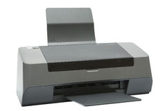 Modern inkjet printer. The modern inkjet printer on a white background Royalty Free Stock Image