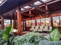 Modern inomhus landskapsarkitektur Arkivbild