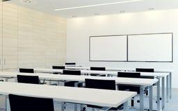 Modern inre av affärskonferensrum med den tomma bildskärmskärmen för presentation Royaltyfri Fotografi