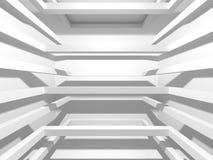 Modern inre bakgrund för vit arkitekturkonstruktion Arkivfoton