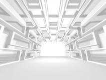 Modern inre bakgrund för vit arkitekturkonstruktion Arkivfoto