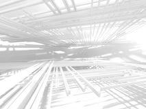Modern inre bakgrund för vit arkitekturkonstruktion Arkivbild