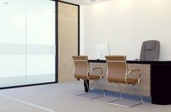 Modern inre för rum för chefkontor Arkivbilder