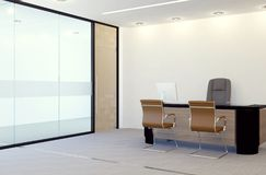 Modern inre för rum för chefkontor Arkivbild