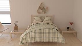 modern inre för sovrum 3D royaltyfri foto