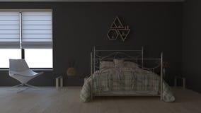 modern inre för sovrum 3D fotografering för bildbyråer