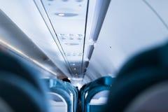 Modern inside of aircraft Stock Photos