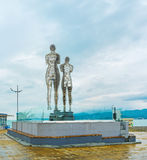 The modern installation in Batumi Stock Images