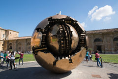 Modern installation Sphere in Vatican Royalty Free Stock Photography