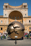 Modern installation Sphere in Vatican Stock Photography