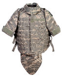 Modern interceptor body armour Stock Images