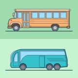 Modern intercity school bus retro vintage schoolbu Royalty Free Stock Photography